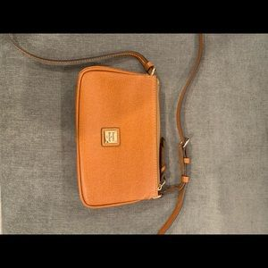 Tan Dooney and Burke mini crossbody
